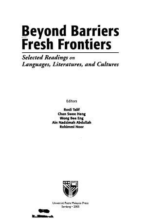 Beyond Barriers  Fresh Frontiers PDF