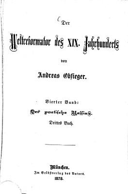 Der Weltreformator des XIX  Jahrhunderts PDF