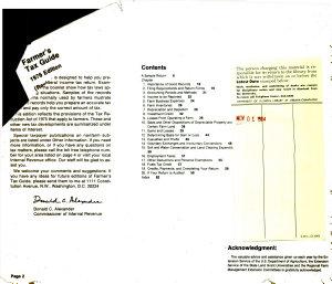 Farmer's Tax Guide