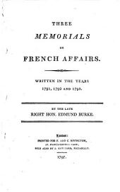 Three Memorials on French Affairs