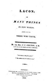 Lacon: or, Many things in few words, Volume 9