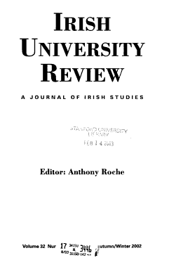 Irish University Review PDF