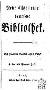 Neue allgemeine deutsche Bibliothek: Band 12
