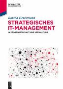 Strategisches It Management in Privatwirtschaft Und Verwaltung PDF