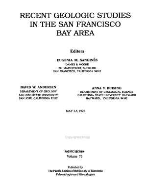 Recent Geologic Studies in the San Francisco Bay Area