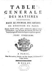 Table generale des matiéres: FR-IG