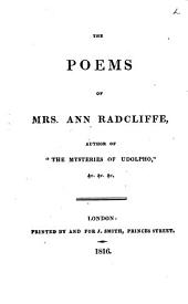 The Poems of Mrs. Ann Radcliffe ...