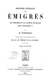 Histoire générale des émigrés pendant la révolution française: Volume3