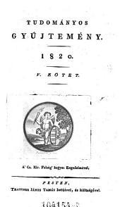Tudomanyos Gyüjtemeny. (Wissenschaftl. Sammlung.) hung: 11. kötet