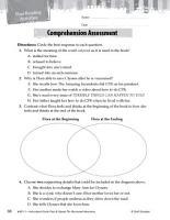 Flora   Ulysses  The Illuminated Adventure Comprehension Assessment PDF