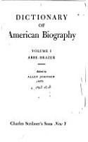 Dictionary of American Biography  Abbe Brazer PDF