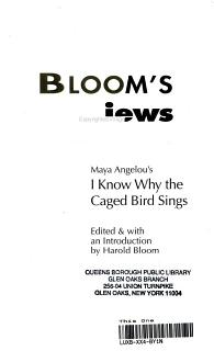 Maya Angelou s I Know why the Caged Bird Sings Book
