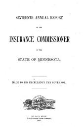 Annual Report of the Insurance Commissioner of the State of Minnesota: Volume 16, Part 1887