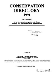 Conservation Directory Book