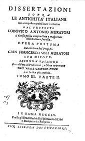 Dissertazioni sopra le antichità italiane: Volume 3,Parte 2
