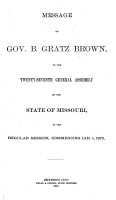 Appendix to the House and Senate Journals of the     General Assembly of the State of Missouri PDF