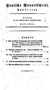 Deutsche Monatsschrift: 1798,2, Band 1798,Ausgabe 2