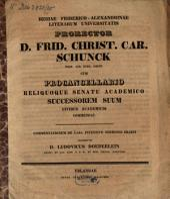 Regia Friderico-Alexandrina Litterarum Universitas Erlangen Universität