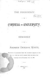 The Presidency of Cornell University