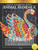 Zoo Dala Birds Version Vol 27  Animal Mandala  Adult Coloring Book PDF