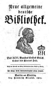 Neue allgemeine deutsche Bibliothek: Band 96