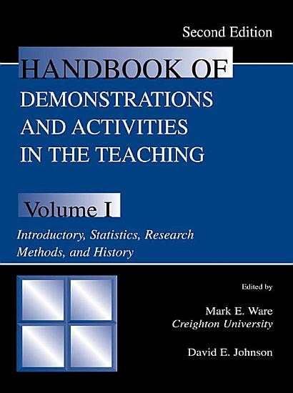 Handbook of Demonstrations and Activities in the Teaching of Psychology PDF