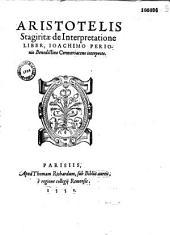 Aristotelis Stagiritae De interpretatione liber