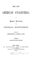 The new American cyclop  dia  ed  by G  Ripley and C A  Dana PDF