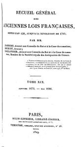 Recueil général des anciennes lois françaises: depuis l'an 420 jusqu'à la révolution de 1789, Volume20