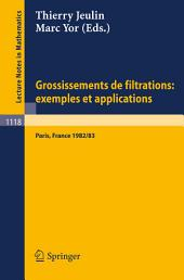 Grossissements de filtrations: exemples et applications: Seminaire de Calcul Stochastique 1982/83 Universite Paris VI