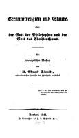 Vernunftreligion und Glaube oder  der Gott der Philosophen und der Gott des Christenthums PDF