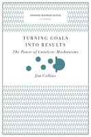 Turning Goals into Results  Harvard Business Review Classics  PDF