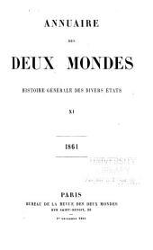 Annuaire des deux mondes: histoire générale des divers états, Volume11
