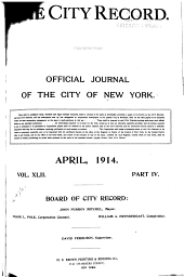 The City Record: Official Journal, Volume 42, Part 4