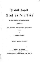 Friedrich Leopold Graf zu Stolberg: Grösstentheils aus dem bisher noch ungedruckten Familiennachlass dargestellt, Band 2