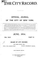 The City Record: Official Journal, Volume 42, Part 6