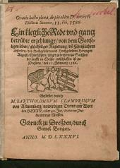 Oratio luctu plena, de pio obitu D. Augusti Electoris Saxoniae, 11. Feb. 1586