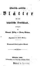 Historisch-politisch Blätter für das katholische Deutschland: Band 59
