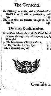 The Considerations of Drexelius Upon Eternitie