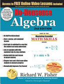 No Nonsense Algebra  2nd Edition  Part of the Mastering Essential Math Skills Series Book
