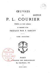 Oeuvres de P.L. Courier: publiées en trois volumes