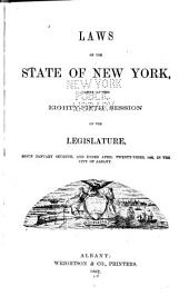 Public Laws of the State of New York