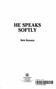 He Speaks Softly PDF