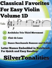 Classical Favorites for Easy Violin Volume 1 D