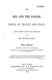 The sea and the sailor: notes on France and Italy