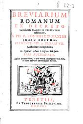 Octavarium Romanum, sive, Octavae festorum : lectiones secundi scilicet, et tertii nocturni singulis diebus recitandae infra octavas Sanctorum titularum, vel tutelarium