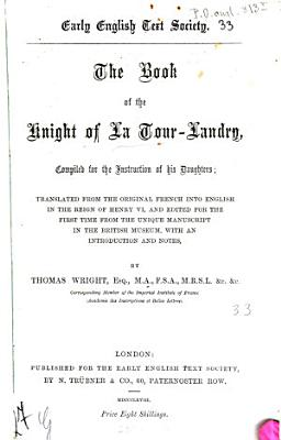 The book of the knight of La Tour Landry PDF