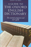 A Guide To The Oxford English Dictionary Book PDF