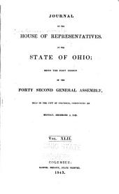 Journal of the House of Representatives of the State of Ohio: Volume 42