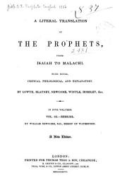 A Literal Translation of the Prophets, from Isaiah to Malachi: With Notes, Critical, Philological, and Explanatory, Volume 3